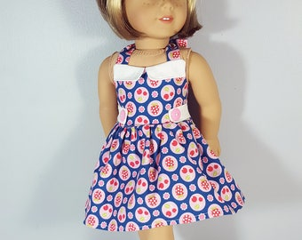 18 inch doll clothing Flutterberry Dress