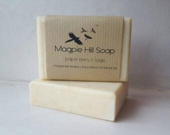 Juniper Berry Soap, Juniper Soap, Juniper and Sage Soap, Sage Soap, Kitchen Soap, Natural Soap