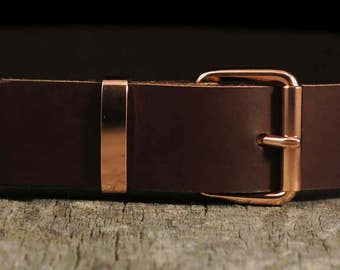 Copper Buckle Set - Copper Belt Buckle and Copper Belt Keeper - TheCopperBuckle