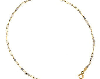 Anklet. 14KT Yellow and White Gold  Anklet