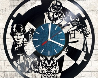 Vinyl Clock Star Wars An interesting element of the decor For music and art lovers