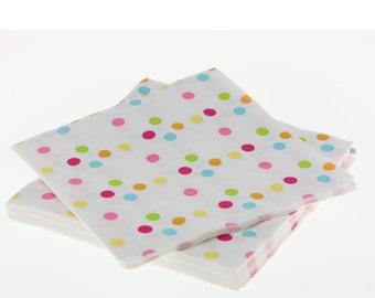 Napkins | Confetti Polka Dot Napkins | Paper Napkins | Multi-colored Dots | Premium Quality Paper Napkins | Party Supplies The Party Darling