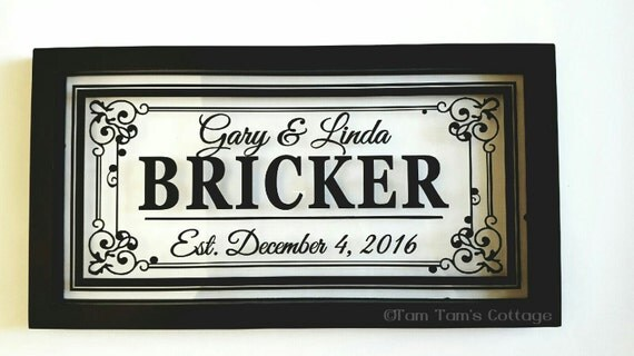 Personalized Picture Frame With Family Name Quote Family: Last Name Floating Frame Personalized 16X8-Wedding Gifts