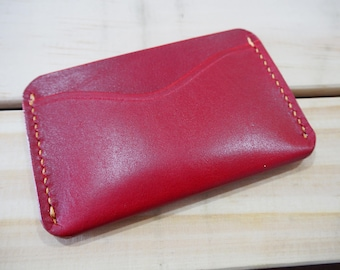 "The ""Insert"" - 2 Slot Cardholder - Lollipop Red"