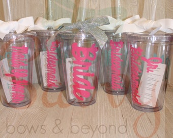 Bridal Party Tumblers Package