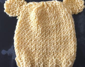 Knit baby hat with ears