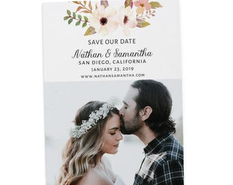 Simple Save the Date Printable, Save the Date Cards, Personalized Save the Date Cards #16