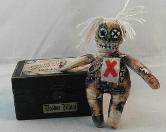 VOODOO BOX- Shadow box-OOAK- Ritual- Miniature display and art doll- Art doll- Macabre