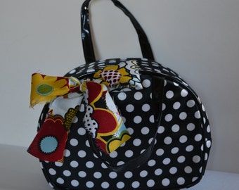 Lunch Bag for Woman | Cosmetic Storage | Polka Dot Makeup Bag | Teen Girl's Gift | Womans Gifts | Insulated Baby Bottle Bag