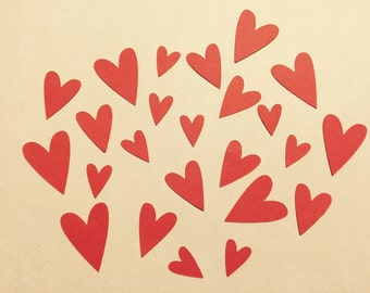 Hearts confetti, Wedding decoration, Bachelorette, Babyshower, Decoration, set of 60, 120, 250