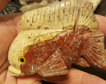 Jasper fish carving