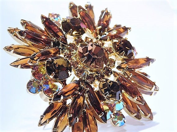 Juliana Rhinestone Brooch / DeLizza Elster / Verified D E