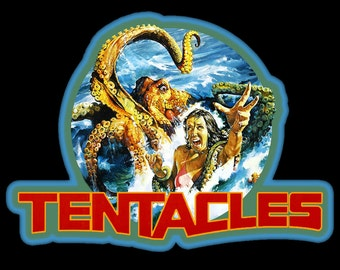 70's Horror Cult Classic Tentacles Poster Art custom tee Any Size Any Color