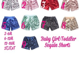 Baby Girl/Toddler Sequin Shorts