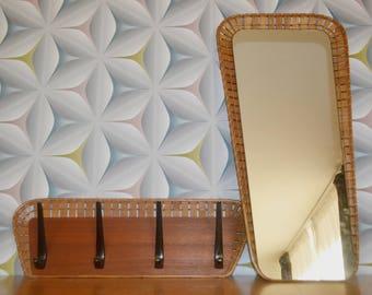Vintage mirror / wardrobe set 50s
