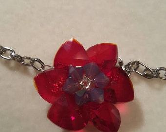 Sparkly flower pendant