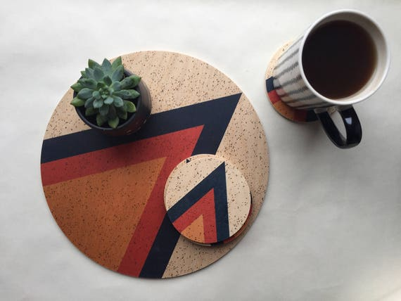 ARROW wood trivet / giant coaster