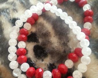 Red/White Bracelet Set