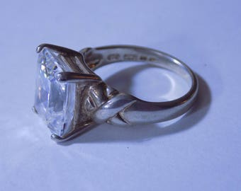 Beautiful silver and clear CZ ring