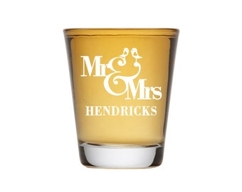 Wedding Shot Glasses, Personalized Shot Glasses, Engraved Shot Glass, Wedding Favors, Bride and Groom