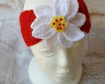 Woman's crochet ear warmer - Crochet ear warmer - Crochet headband - Ear warmer - Ear warmer headband - Winter ear warmers - Crochet gift