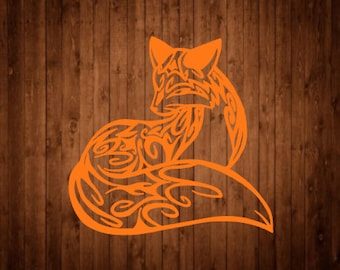 Fox Tribal decal | Fox Decal | Free Shipping | Tribal Decal | Favorite Decal | Popular Decal | Customizable decal | Cute Decal | Cute Fox