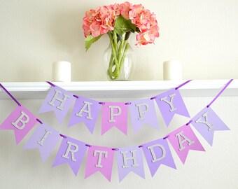 Girl 1st Birthday Banner - First Birthday Party Supplies - Girl First Birthday Party Decor - Sweet Sixteen Party Decor - 40th Party Banner