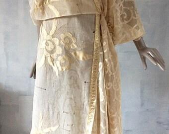 Edwardian style wedding dress with silk embroidery---s
