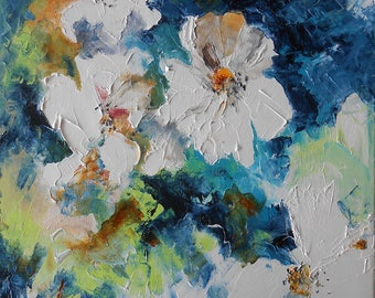 """Painting """"White flowers"""""""