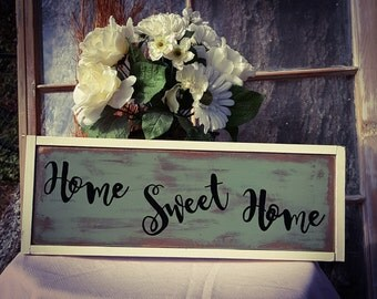 Home Sweet Home Sign, Wood Sign, Rustic Sign, Country Sign, Gift for Her, House Warming Gift, Christmas Gift, Welcome Sign, Gift for Mom