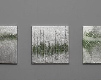 original mix media triptych on canvas,Original Fine Art Abstract , Contemporary Wall Art, Modern Art Painting,set of 3,Minimalist Art,