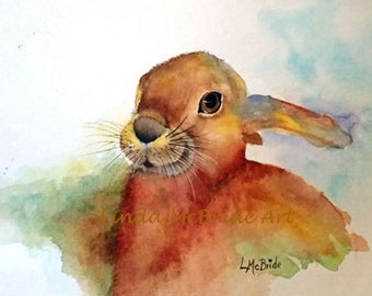Brown Bunny 5x7 Blank Greeting Card with Envelope