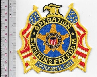 US Secret Service USSS Afghanistan Operation Enduring Freedom War on Terrorism Service Agent Patch