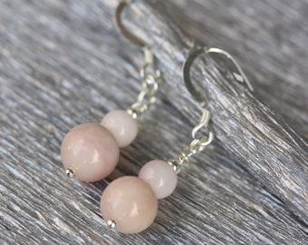 Andean Opal earrings - sterling silver