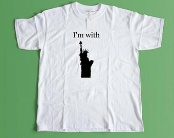 Statue of Liberty Shirt - Human Rights TShirt - Feminist Tee Shirt - The Resistance - Resist - Liberal - Political - Democrat - Civil Rights
