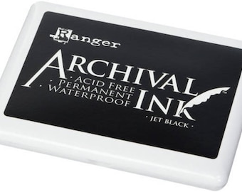 JUMBO Ink Pad 4x6 Archival Ink™ - Extra Large Ink Pad - Oversized Stamp Ink - Ranger Non Toxic Ink - Rubber Stamp Ink - Permanent Acid Free