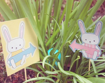 Easter bunny egg hunt, DIY Easter hunt Easter bunny, Easter printable, Instant download