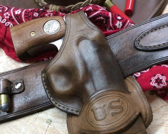 "Bond Arms ""US"" Stamped Holster ""Mexican Loop"" style"