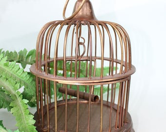 Vintage Brass Decorative Bird Cage
