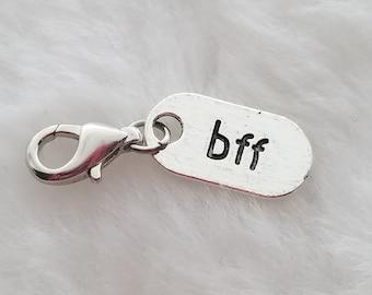 Best Friend BFF Tag Charm - Clip-On - Ready to Wear