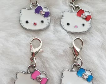 Hello Kitty Charms - 4 Colors Available- Clip-On - Ready to Wear