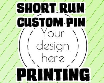 Custom pin-back button printing