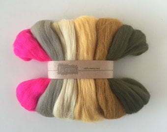 Merino Roving Autumn / Wool Roving / Lontwol