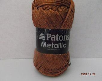 Patons Metallic Yarn ~ Metallic Orange ~ 85 Grams/3.0 oz ~ 252 Yards ~ #4 Medium ~