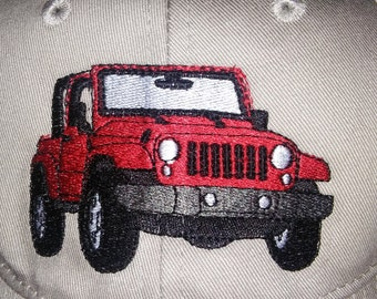 Personalized Jeep Embroidered Hat