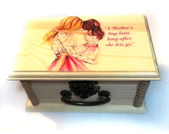 Gifts for mom, Keepsake Box,Personalized Gift,unique gift,Wood Box, Photo, Trinket Box, Small jewelry Box, birthday Gift, gifts for her,