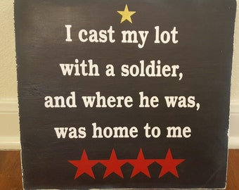Army Wife Wood Sign, Military Wood Sign, Military Gift, Military Spouse Sign, Army Spouse Gift