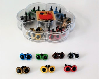 35 pairs of eyes of security, 7 colors different, 10 mm-35 pairs of 10 mm Safety eyes Box, 7 different colors