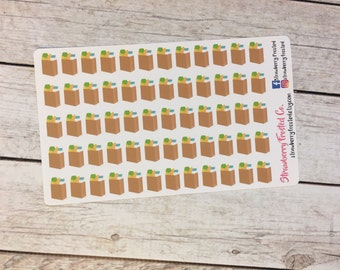 Grocery Bag Planner Stickers - Made to fit Vertical or Horizontal Layout