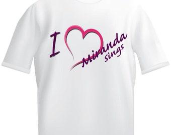 I (heart) love Miranda Sings White T-shirt